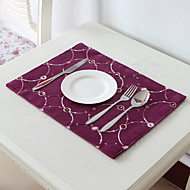 Violet Polyester Rectangulaire Sets de table