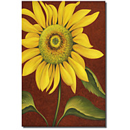 Printed Canvas Art Floral Sunflower by John Zaccheo with Stretched Frame