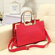 Femmes Vintage PU Leather Satchel
