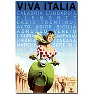 Painettu Canvas Art Vintage Viva Italia by Vintage Apple Collection venytetty Frame