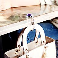 färgglada kristall fällbara väska hängare handväska krok (1 st slumpmässig färg)