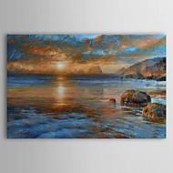 Handgeschilderde Landschap / Abstracte landschappen Eén paneel Canvas Hang-geschilderd olieverfschilderij For Huisdecoratie