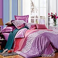 ARANDA Romantic Floral Cotton 4 Stück Bettbezug Set 200 * 240cm