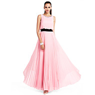 TS Couture® Prom / Formal Evening / Wedding Party / Military Ball Dress Plus Size / Petite A-line / Princess Jewel Floor-length Chiffon withCrystal