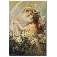 Impresso Canvas Art Vintage Swinstead, dois anjos pela coleção Vintage da Apple, com quadro esticado