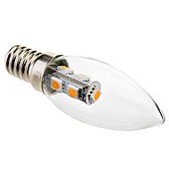 1W E14 LED Candle Lights C35 7 SMD 5050 70 lm Warm White Decorative AC 220-240 V
