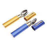 metal Chopsticks Camping Utensílio para Comer Set garfo Colher cores sortidas Exterior