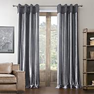anti ™ algodão dois painéis de poliéster cortina mistura neoclássica