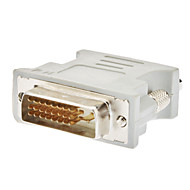 DVI 24 +1 Férfi Nő VGA adapter fehér
