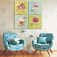 Stretched Canvas Art Floral Charming Group Set of 4