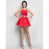 Homecoming Cocktail Party/Prom/Homecoming/Sweet 16 Dress - Ruby Plus Sizes A-line/Princess Scoop Short/Mini Tulle/Charmeuse