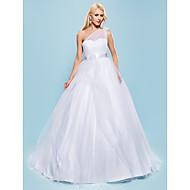 Lanting Bride® Ball Gown Petite / Plus Sizes Wedding Dress - Chic & Modern / Glamorous & Dramatic Vintage Inspired Court TrainOne