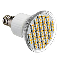 E14 4W 60x3528SMD 210-240LM 3000-3500K Blanc Chaud Ampoule spot LED (85-265V)