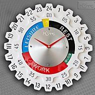 """שעון קיר בסגנון הילוך שעות 24 """""""