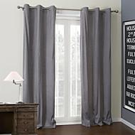 (Um painel) clássico cinza cortina revestimento térmico