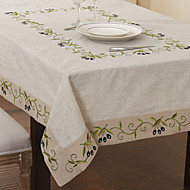 Traditionnels lin beige Nappes Floral