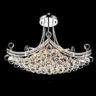 Modern Delicado Colgante 6 Luxury Light con las bolas de cristal
