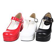 Handmade PU Leather 7.5cm Chunky Heel Classic Lolita Shoes