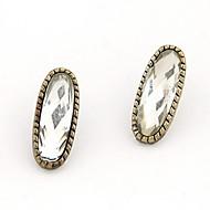 모조 다이아몬드 장식 못 귀걸이 (다른 색)과 절묘한 합금