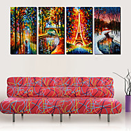 Stretched Canvas Art Landscape Rain and Love Set of 4