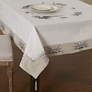 Violet Mélange Poly/Coton Carré Nappes de table