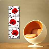 Stretched Canvas Art Floral Three Popies Set of 3