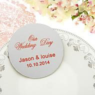 Gepersonaliseerde Classic Wedding Coasters-set van 4 (meer kleuren)