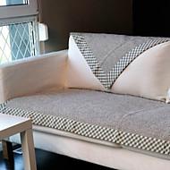 coton gris linge ourlets coussin de canapé 70 * 120