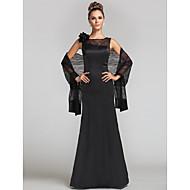 Lanting Formal Evening / Military Ball / Wedding Party Dress - Black Plus Sizes / Petite Trumpet/Mermaid Jewel Floor-length Lace / Satin