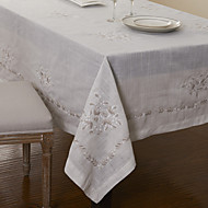 Polyester blanc classique Nappes Floral
