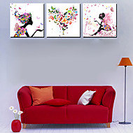 Stretched Canvas Art People Fairy Set of 3