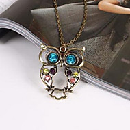 Korean star jewelry hollow carved cute owl sweater chain N55