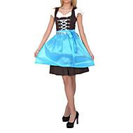 Festa della Birra Ospitale Ragazza Cielo Azzurro Cotone Dress cameriera Uniform