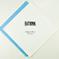 Tovaglioli di nozze personalizzati mangiare, bere - Block (altri colori)-Set di 100