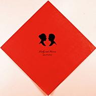 Casamento personalizado Guardanapos Silhuetas (mais cores)-Grupo de 100