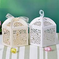 flower designu laser cut krabici s mašlí (více barev)-sada 12