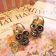 Skull Personality To Do The Old Retro Flower Earrings Earrings E692