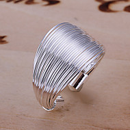 Moda Wire Dizajn Silver Adjustable Ring