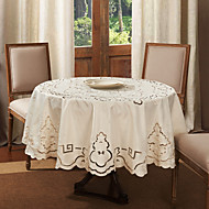 Round Table Cloth Broderie Polyester