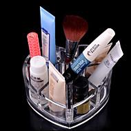 акриловая прозрачная хранения косметики стенд макияж кисти горшок любящее сердце образный косметические организатор