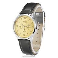 Women's Unique Zinc Alloy Case Quartz Movement PU Band Analog Wrist Watch