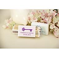 decoração do casamento matchbooks personalizados --chave conjunto de 12 (mais cores)
