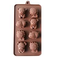 szilikon oroszlán, cow&viselik csokoládé öntőformák zselés jég formák candy torta forma bakeware