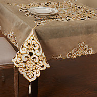 """59 """"X59"""" d'or de modèle linge de table floral moderne"""