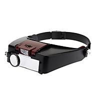 Praktische Kunststoffmaterial Stirnband Lupe mit LED-Licht (81007-A) - Black & Red