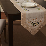 Beige Linen / Cotton Blend Rectangular Table Runners