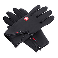 Wind Protection Waterproof Black Full Finger Skiing Gloves