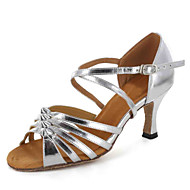 Customized Suede Ankle Strap Latin / Ballroom  Women's Dance Shoes With Buckle