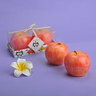 사과 모양의 2 개 조각의 양초 세트