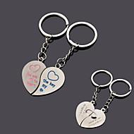 coração personalizado casal chave chaveiro - conjunto de 6 pares